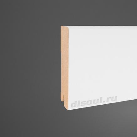 Плинтус МДФ белый Pedross 5913 клипсы в подарок