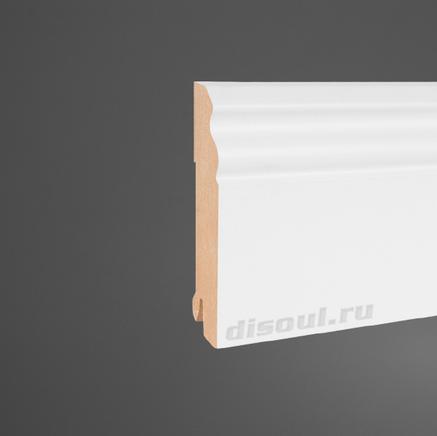 Плинтус МДФ белый Pedross 5535 клипсы в подарок