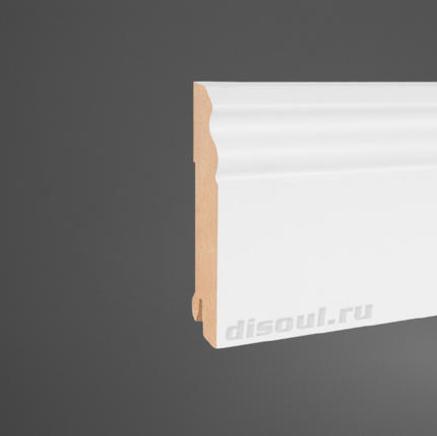 Плинтус МДФ белый + клипсы в подарок Disoul 1114