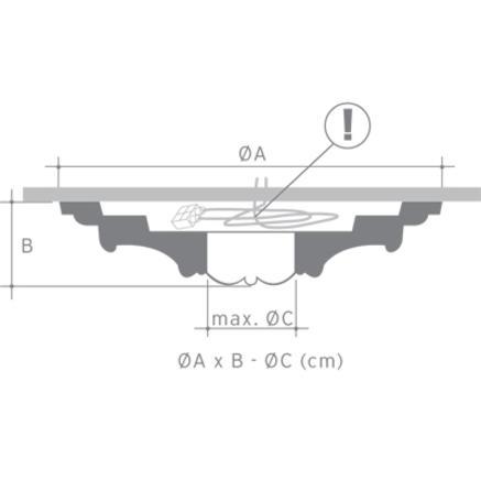 Потолочная розетка из полиуретана Orac Axxent R 10