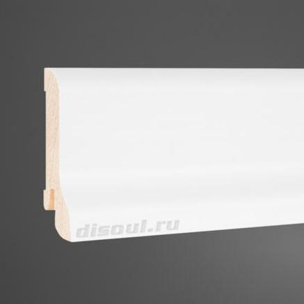 Плинтус деревянный белый Disoul 6122