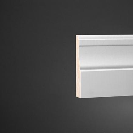 Плинтус широкий под покраску Ultrawood Base 015 покраска по RAL в подарок