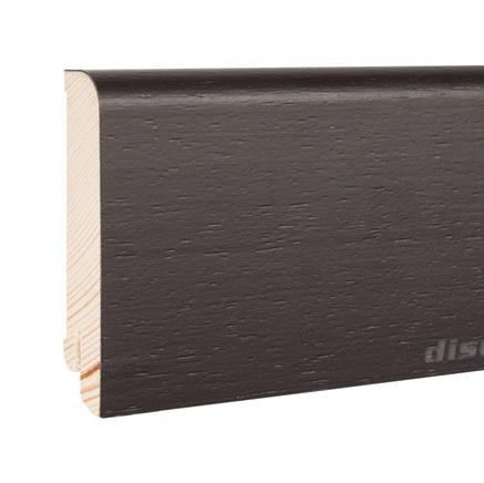 Плинтус шпонированный Дуб черный Disoul 8020 Дуб черный