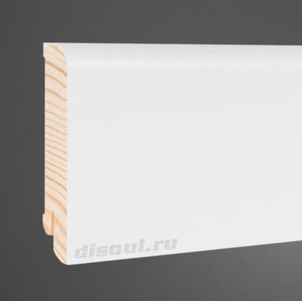 Плинтус деревянный белый Pedross 8016