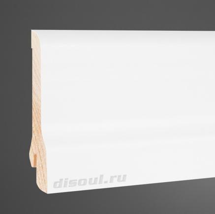 Плинтус деревянный белый  Pedross 8020 клипсы в подарок