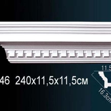 Карниз полиуретановый с орнаментом Perfect AA 046 клей в подарок