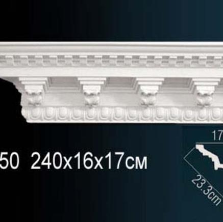 Карниз полиуретановый с орнаментом Perfect AA 050
