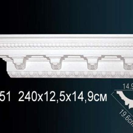 Карниз полиуретановый с орнаментом Perfect AA 051