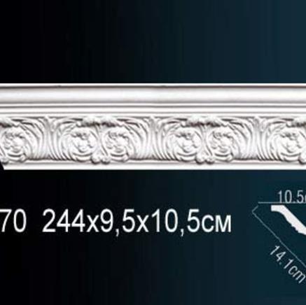 Карниз полиуретановый с орнаментом Perfect AA 070