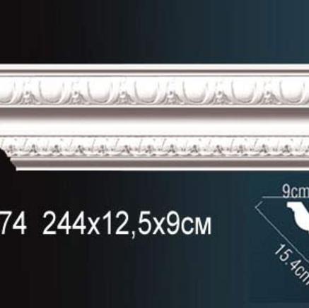 Карниз полиуретановый с орнаментом Perfect AA 074