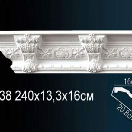 Карниз полиуретановый с орнаментом Perfect AA 138