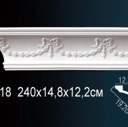 Карниз полиуретановый с орнаментом Perfect AA 218