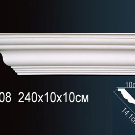 Карниз полиуретановый потолочный Perfect AB 108 клей в подарок