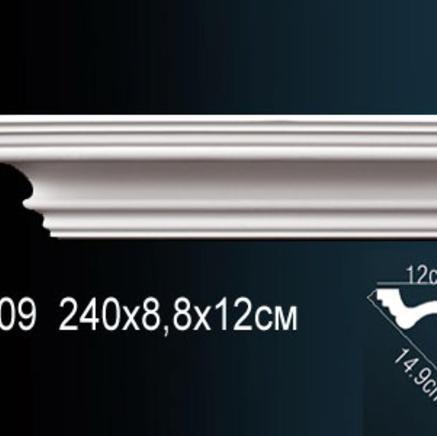 Карниз полиуретановый + клей в подарок Perfect AB 109