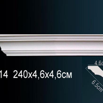 Карниз полиуретановый потолочный Perfect AB 114 клей в подарок
