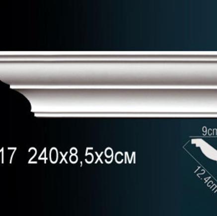 Карниз полиуретановый потолочный Perfect AB 117 клей в подарок