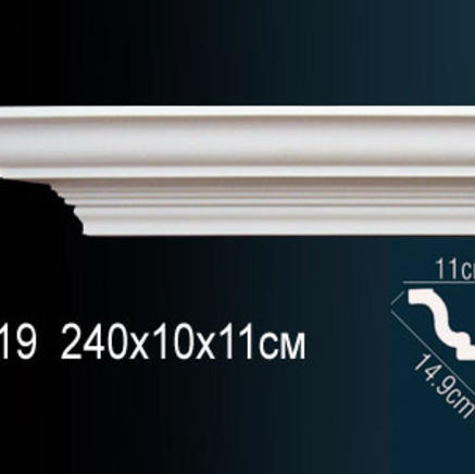 Карниз полиуретановый + клей в подарок Perfect AB 119