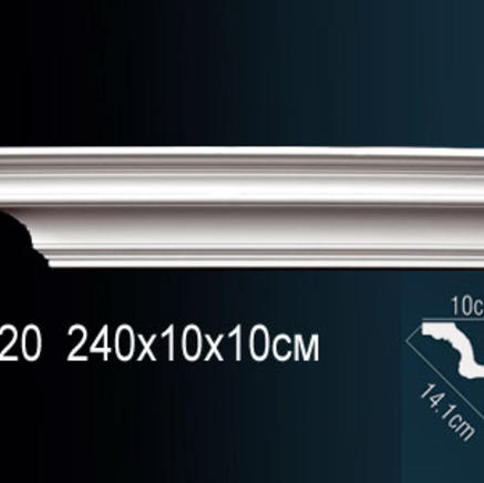 Карниз полиуретановый потолочный Perfect AB 120
