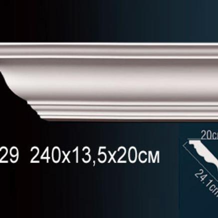 Карниз полиуретановый потолочный Perfect AB 129 клей в подарок