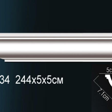 Карниз полиуретановый потолочный Perfect AB 134 клей в подарок