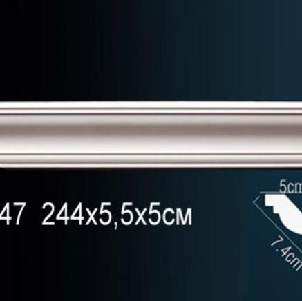 Карниз полиуретановый потолочный Perfect AB 147 клей в подарок