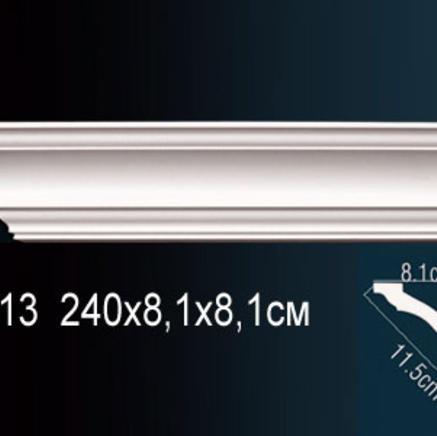 Карниз полиуретановый потолочный Perfect AB 213 клей в подарок