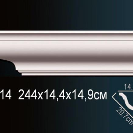 Карниз полиуретановый потолочный Perfect AB 214 клей в подарок