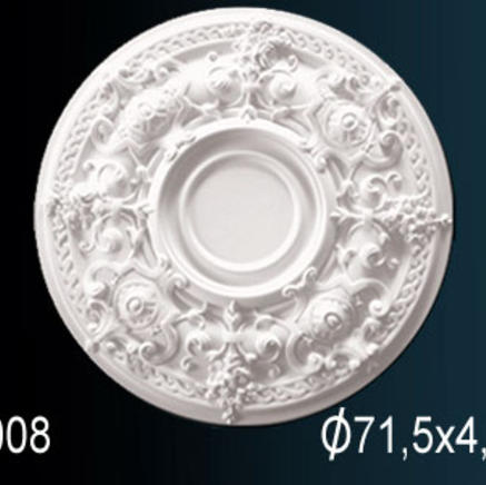 Потолочная розетка из полиуретана Perfect B 3008