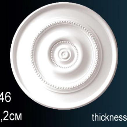 Потолочная розетка из полиуретана Perfect B 3046