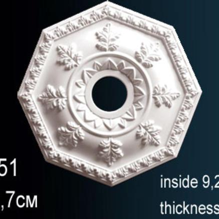 Потолочная розетка из полиуретана Perfect B 3051