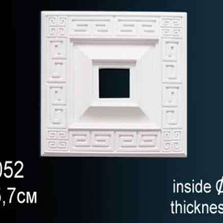 Потолочная розетка из полиуретана Perfect B 3052