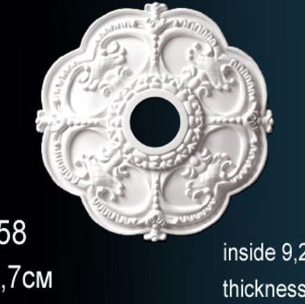 Потолочная розетка из полиуретана Perfect B 3058