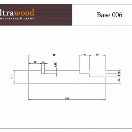 Плинтус широкий под покраску Ultrawood Base 006 клей в подарок