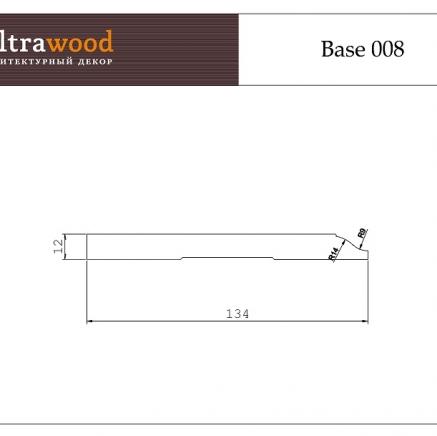 Плинтус напольный под покраску Ultrawood Base 008 клей в подарок