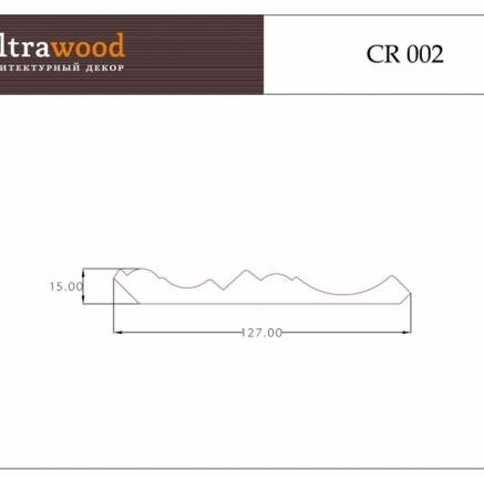 Карниз под покраску  Ultrawood CR 002 клей в подарок
