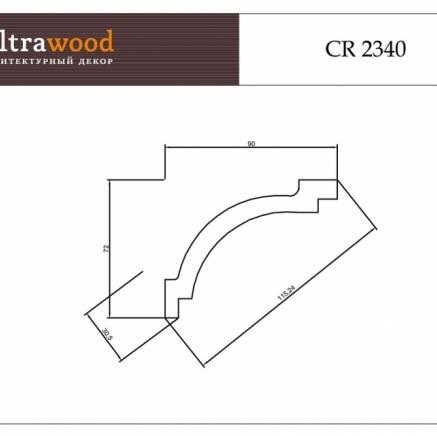 Плинтус потолочный под покраску ЛДФ Ultrawood CR 2340