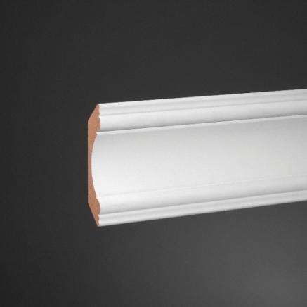 Плинтус потолочный под покраску ЛДФ Ultrawood CR 4080 клей в подарок