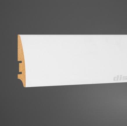 Плинтус МДФ белый L-decor 101-60 клей в подарок