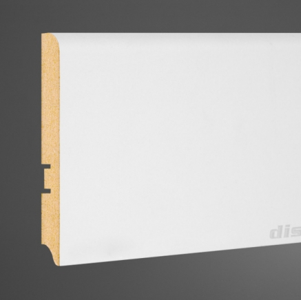 Плинтус МДФ высокий белый L-decor 102-116