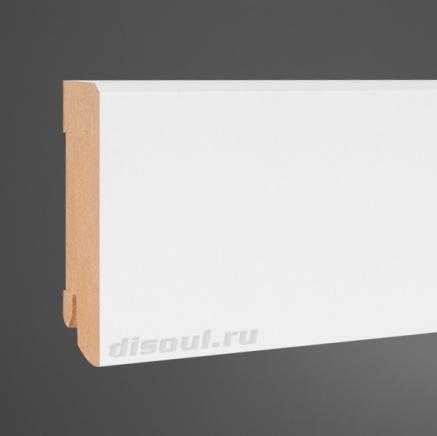 Плинтус МДФ напольный белый SP-decor W06-80