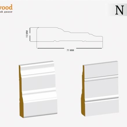Наличник под покраску ЛДФ Ultrawood N 004 клей в подарок