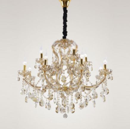 Светильник потолочный Crystal Lux Beauty SP08+4 ORO/CHAMPAGNE