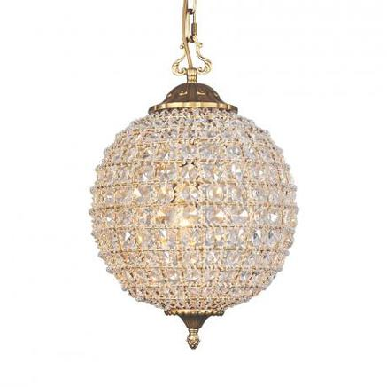 Светильник потолочный ALCAZAR CRYSTAL SMALL CHANDELIER Gramercy Home CH054-1-VBN