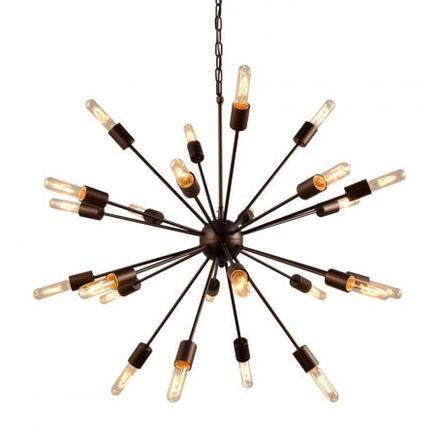 Светильник потолочный ATOM LARGE CHANDELIER Gramercy Home CH026-24-BB