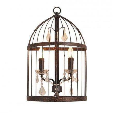 Бра BIRDCAGE CRYSTAL SCONCE Gramercy Home SN008-2-ABG