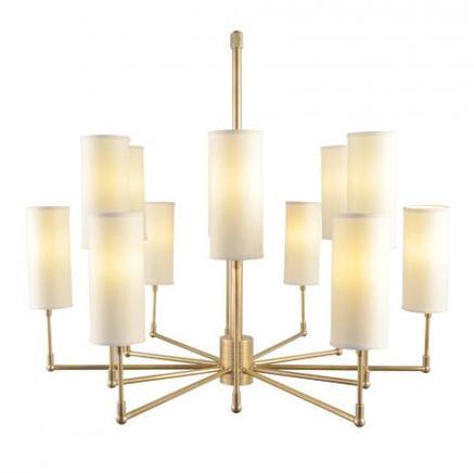 Светильник потолочный CLARENCE CHANDELIER Gramercy Home CH074-12-BRS