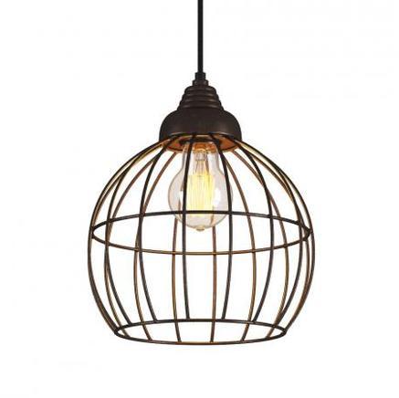 Светильник потолочный EVRON ROUND METAL FRAME CHANDELIER Gramercy Home CH091B-1