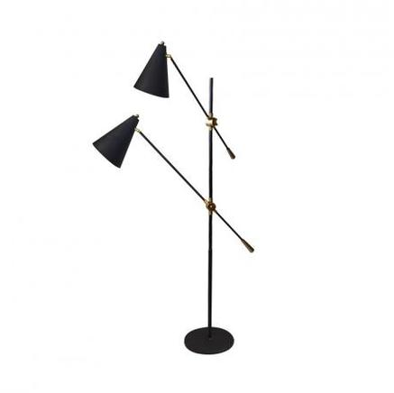 Торшер OSTER DOUBLE FLOOR LAMP Gramercy Home FL041-2-ABG