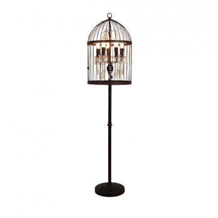 Торшер BIRDCAGE CRYSTAL FLOOR LAMP Gramercy Home FL008-5-ABG