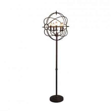 Торшер IRON ORB FLOOR LAMP Gramercy Home FL014-5-ABG
